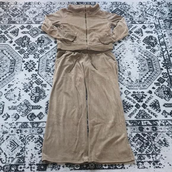 Michael Kors Camel Velour Track Suit - 2pc
